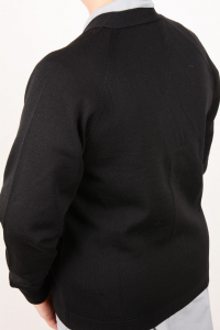 Golf scollo V in pura lana art. 8242 nero