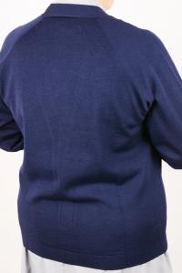 Golf scollo V in pura lana art. 8242 blu