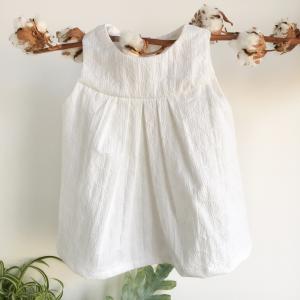 Vestitino cerimonia bambina in cotone biologico