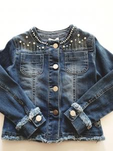 Giacca di jeans con perline