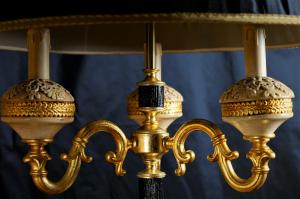 Piantana artigianale classica PERSEO a tre bracci