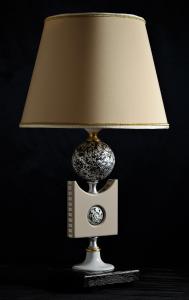 Lampada da tavolo artigianale Contemporanea SFERA argento