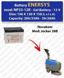 Batterie GEL pour autolaveuses Novakem modèle Jocker 38B
