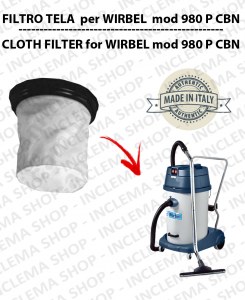 980 P CBN Canvas Filter for vacuum cleaner WIRBEL