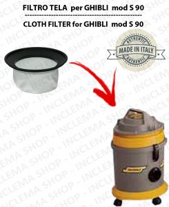 S 90 Filtre Toile pour aspirateur GHIBLI