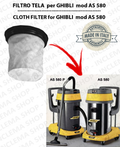 AS 580 Canvas Filter for vacuum cleaner GHIBLI