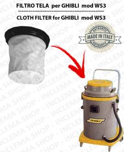 WS3 Filtre Toile pour aspirateur GHIBLI