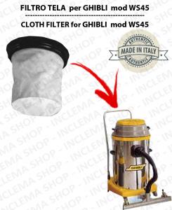 WS45 Filtre Toile pour aspirateur GHIBLI