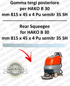 B 30 Bavette arrière pour autolaveuses  HAKO