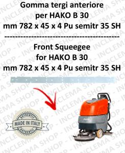 B 30 goma de secado delantera para fregadora  HAKO