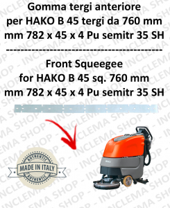 B 45 ( tergi da 760 mm) goma de secado delantera para fregadora  HAKO