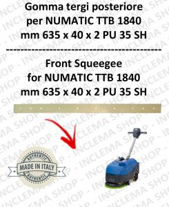 goma de secado trasero para fregadora NUMATIC mod. TTB 1840