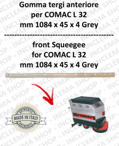 Squeegee rubber front for scrubber dryers COMAC model L 32