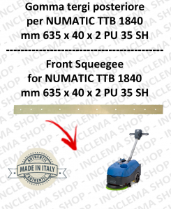 Squeegee rubber back for scrubber dryers NUMATIC mod. TTB 1840