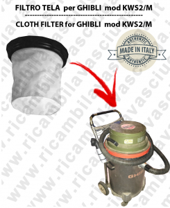 KWS2/M Canvas Filter for vacuum cleaner GHIBLI