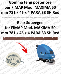 Squeegee rubber back for scrubber dryers FIMAP mod. MAXIMA 50
