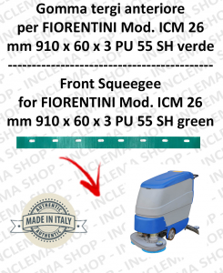 Squeegee rubber front for scrubber dryers FIORENTINI mod. ICM 26