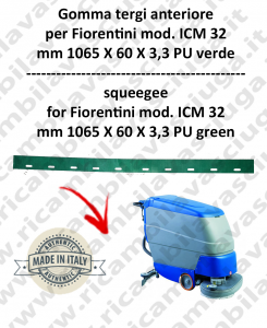 I 32 ( ICM 32 ) Squeegee rubber front for scrubber dryers FIORENTINI