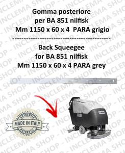 BA 851  - goma de secado trasero para fregadora NILFISK