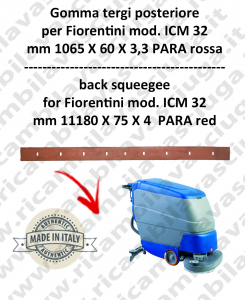 I 32 ( ICM 32 ) Squeegee rubber back for scrubber dryers FIORENTINI