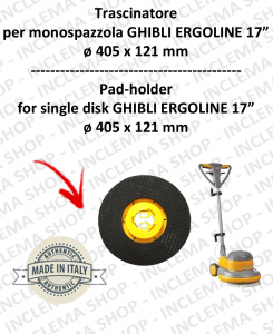 TRASCINATORE for single disc GHIBLI ERGOLINE DA 17 POLLICI (SB143)