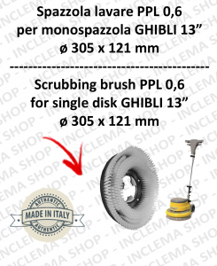 Cleaning BRUSH PPL 0,6 for single disc GHIBLI 13