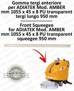AMBER 66 goma de secado delantera para fregadora ADIATEK (tergi da 950 mm)