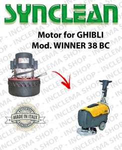 SYNCLEAN Vacuum Motorclean for scrubber dryers Ghibli WINNER 38 BC