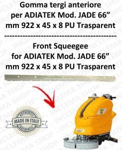 Front Squeegee rubber for scrubber dryers ADIATEK - JADE 66
