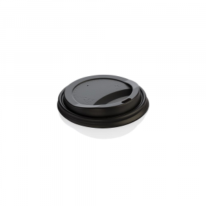 Coperchi biodegradabili per bicchieri asporto 240 ml nero