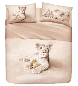 Set lenzuola matrimoniale 2 piazze BASSETTI LION effetto copriletto
