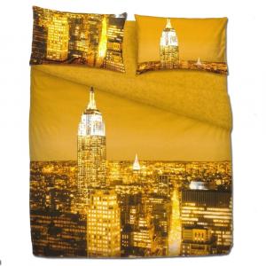 Set lenzuola letto singolo 1 piazza BASSETTI NEW YORK effetto copriletto