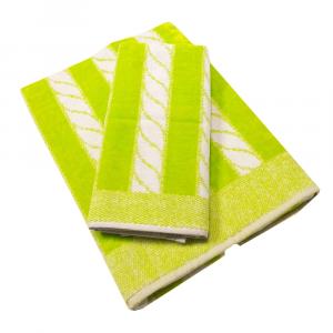 Coppia di asciugamani in spugna Carrara YACHT verde mela