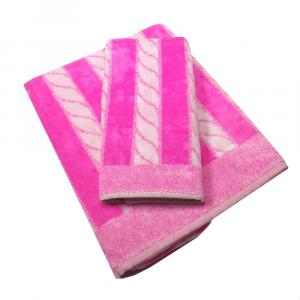 Coppia di asciugamani in spugna Carrara YACHT fuxia
