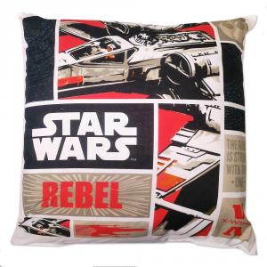 Star Wars Cuscino Imbottito Bassetti 40x40 cm REBEL Originale