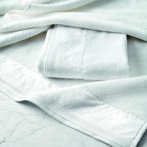 Set 1+1 coppia di spugne asciugamano e ospite GABEL Beatrice bianco