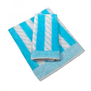 Coppia di asciugamani in spugna Carrara YACHT turchese
