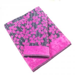 Coppia di asciugamani in spugna Carrara MARGO' fuxia