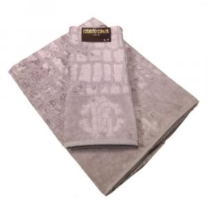 Roberto Cavalli set 1+1 asciugamano e ospite in spugan COCCO grigio