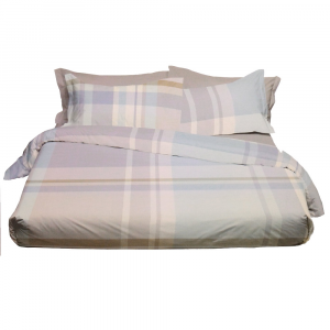 Set lenzuola matrimoniale 2 piazze Bossi Casa scozzese Almond