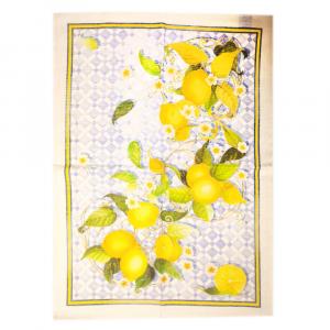 Strofinaccio da cucina Tessitura Toscana SEVILLANA limoni puro lino