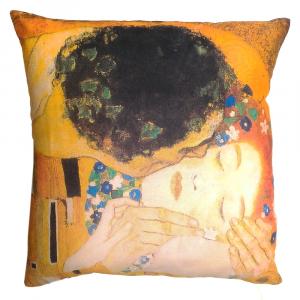 Cuscino arredo decorativo 40x40 Quadri d'Autore BACIO Klimt