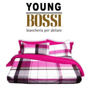 Parure lenzuola Bossi casa Scozzese YOUNG rosa per letto matrimoniale 7200