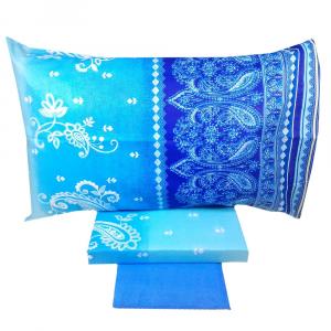 Set lenzuola piazza e mezza BASSETTI Dream ETHNIC COLOR azzurro