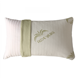 Cuscino Fiocco di Memory Tessuto Aloe Vera