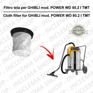 POWER WD 80.2 I TMT Filtre Toile pour aspirateur GHIBLI