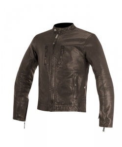 GIACCA MOTO IN PELLE ALPINESTARS BRASS TOBACCO BROWN