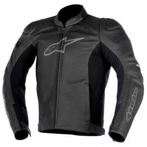 GIACCA MOTO IN PELLE ALPINESTARS SP-1 AIRFLOW BLACK