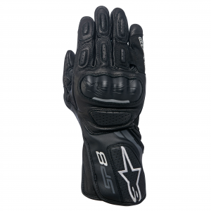 GUANTI MOTO DONNA IN PELLE ALPINESTARS STELLA SP-8 V2 GLOVES BLACK DARK GRAY