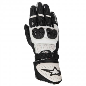 GUANTI MOTO IN PELLE ALPINESTARS GP PLUS R GLOVES BLACK WHITE cod. 3556517
